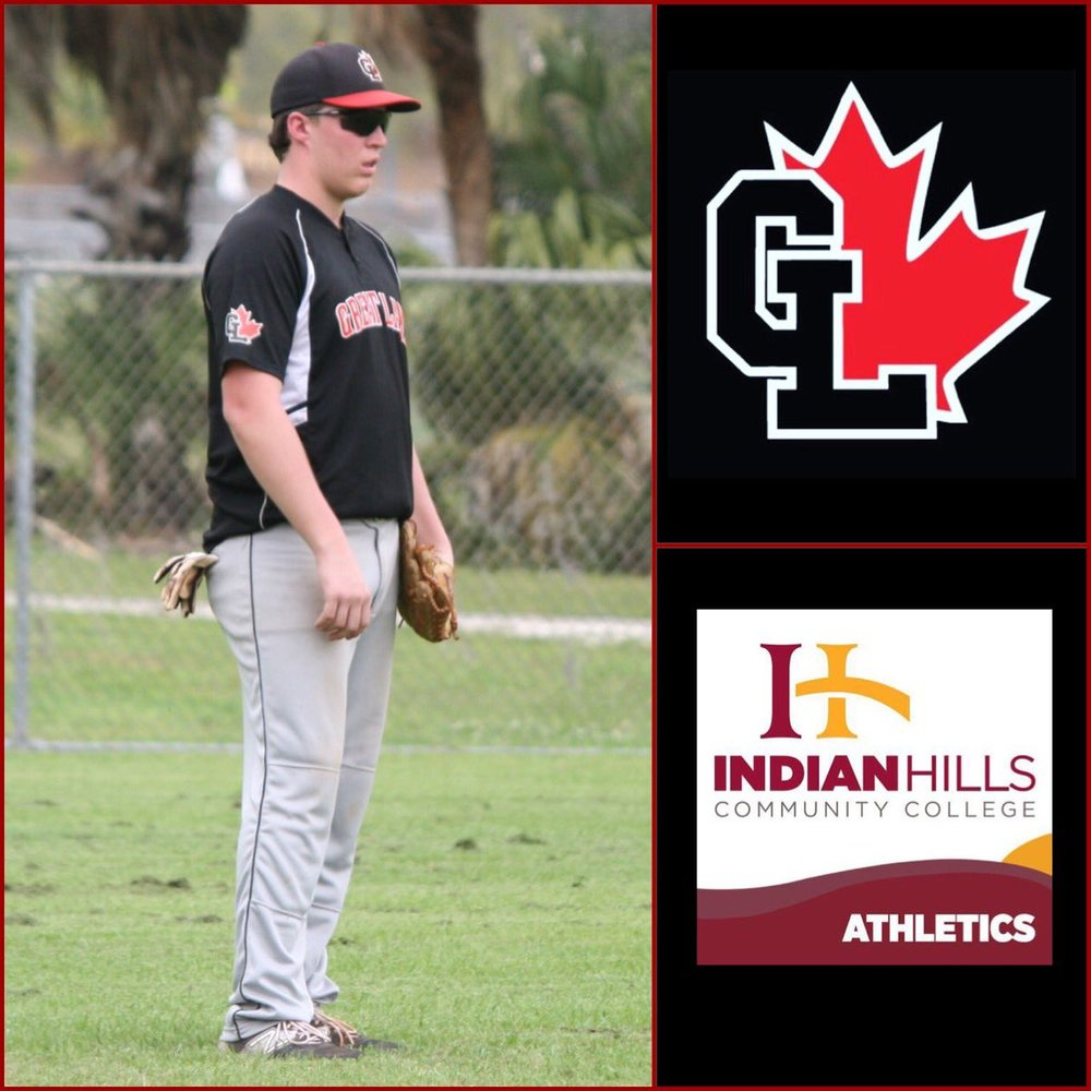 Great Lake Canadians' grad Jameson Hart (Sarnia, Ont.) knocked in four runs with four hits for the Indian Hills Falcons.