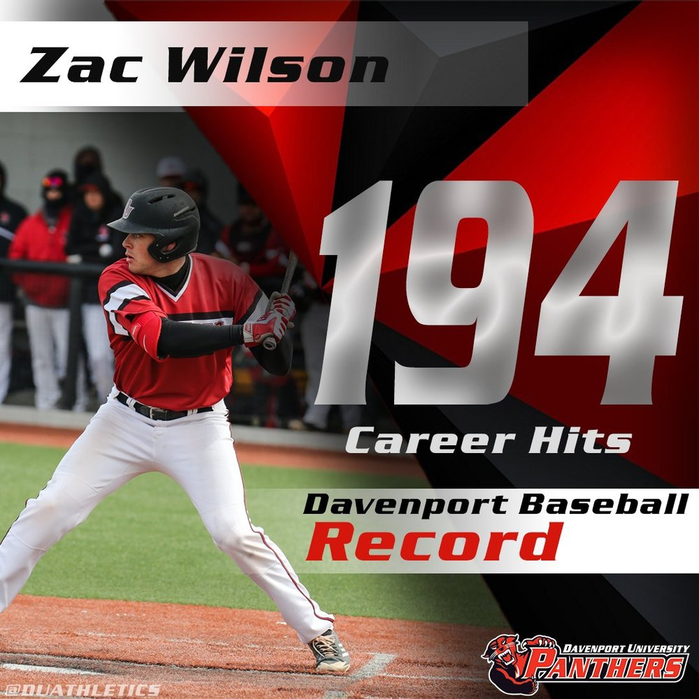 Former Ontario Royal Zac Wilson (New Lowell, Ont.) had a seven-hit week, drove in five and set the school career record for hits.