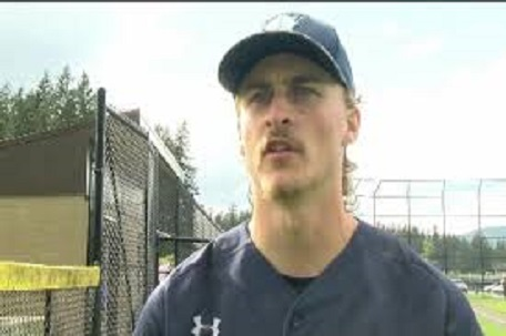 Former Victoria Mariner Fynn Chester (Victoria, B.C.) pitched a complete game win for the Salt Lake Bruins.