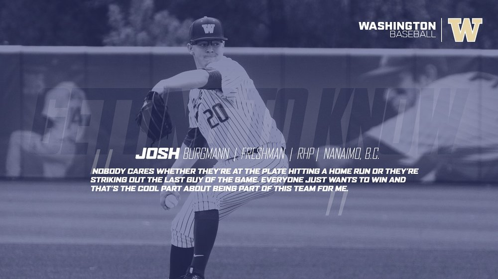 Former Vauxhall Jet Josh Burgmann (Nanaimo, BC) had two solid outings for the University of Washington.