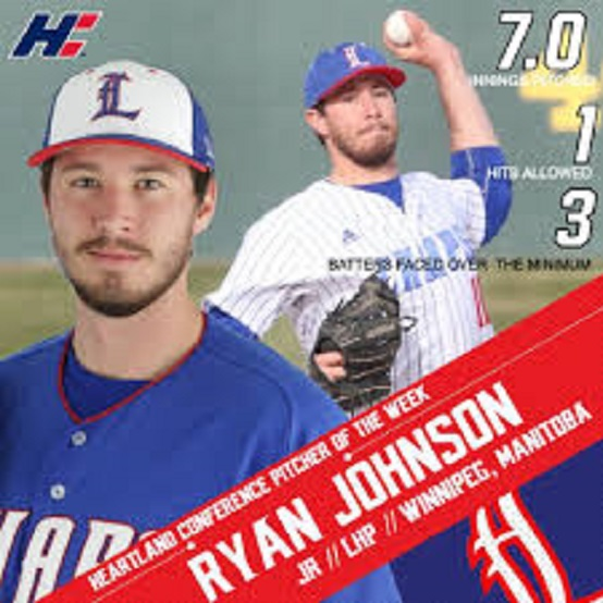 Former St. James A's LHP Ryan Johnson (Winnipeg, Man.) worked seven innings allowing two earned runs.