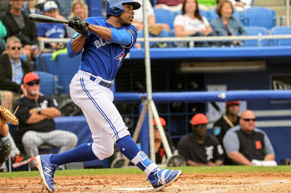 Veteran Curtis Granderson has played better than many expected for the Toronto Blue Jays early in the season. Photo Credit: Amanda Fewer