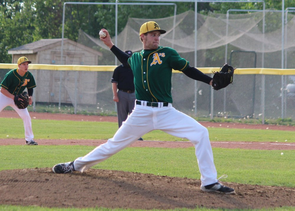 PROSPECTS ACADEMY'S RHP OWEN BESSETTE (SHERWOOD PARK, ALTA.) pitched seven innings, allowing one run in a win for the PERMIAN BASIN FALCONS.