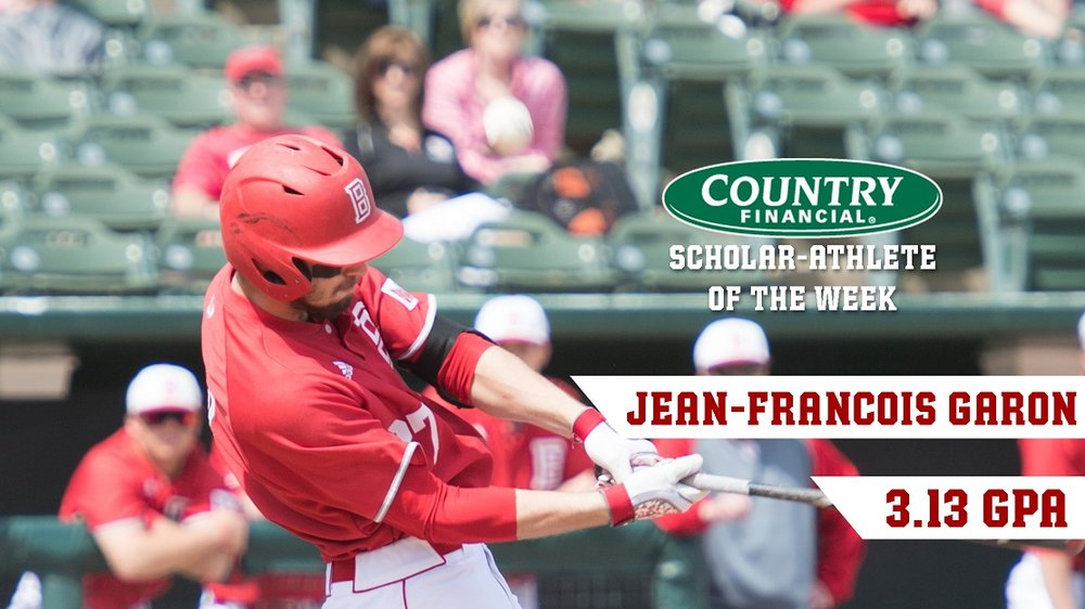 Former Canadian Junior National Team member Jean-Francois Garon (Terrebonne, Que.) went 5-for-7 with an RBI for the Bradley Braves.
