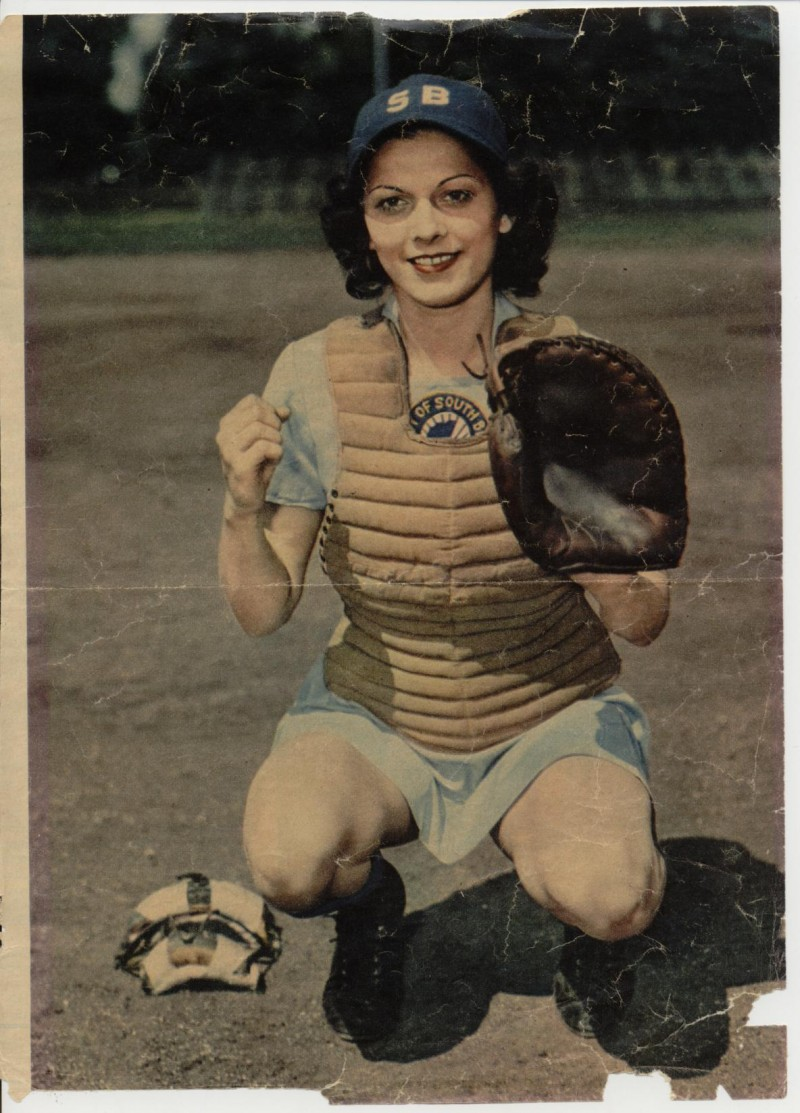 """In 1943, Mary """"Bonnie"""" Baker (Regina, Sask.) became the first Canadian woman to sign with the All-American Girls Professional Baseball League (AAGPBL). Photo Credit: Saskatchewan Sports Hall of Fame"""