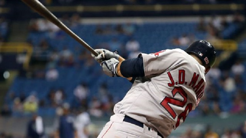 """Boston Red Sox slugger J.D. Martinez, who hit a game-winning, three-run homer against the Blue Jays Thursday, broke in with the Houston Astros and credits hitting coach Stubby Clapp (Windsor, Ont.) with """"helping him dial it down a bit"""" during games."""