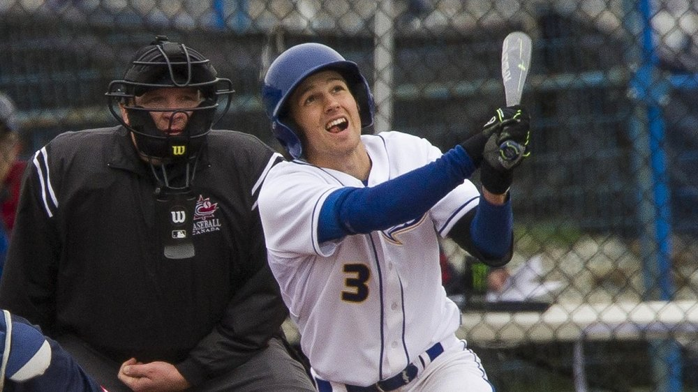 Former Langley Blaze Kyle McComb (Surrey, BC) went 7-for-8 on the final weekend of UBC's season.