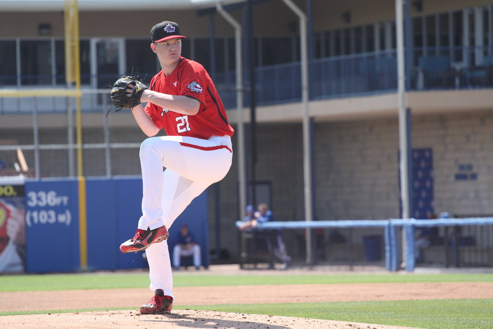 Right-hander Mike Soroka (Calgary, Alta.) has been called up by the Atlanta Braves. Photo Credit: Baseball Canada