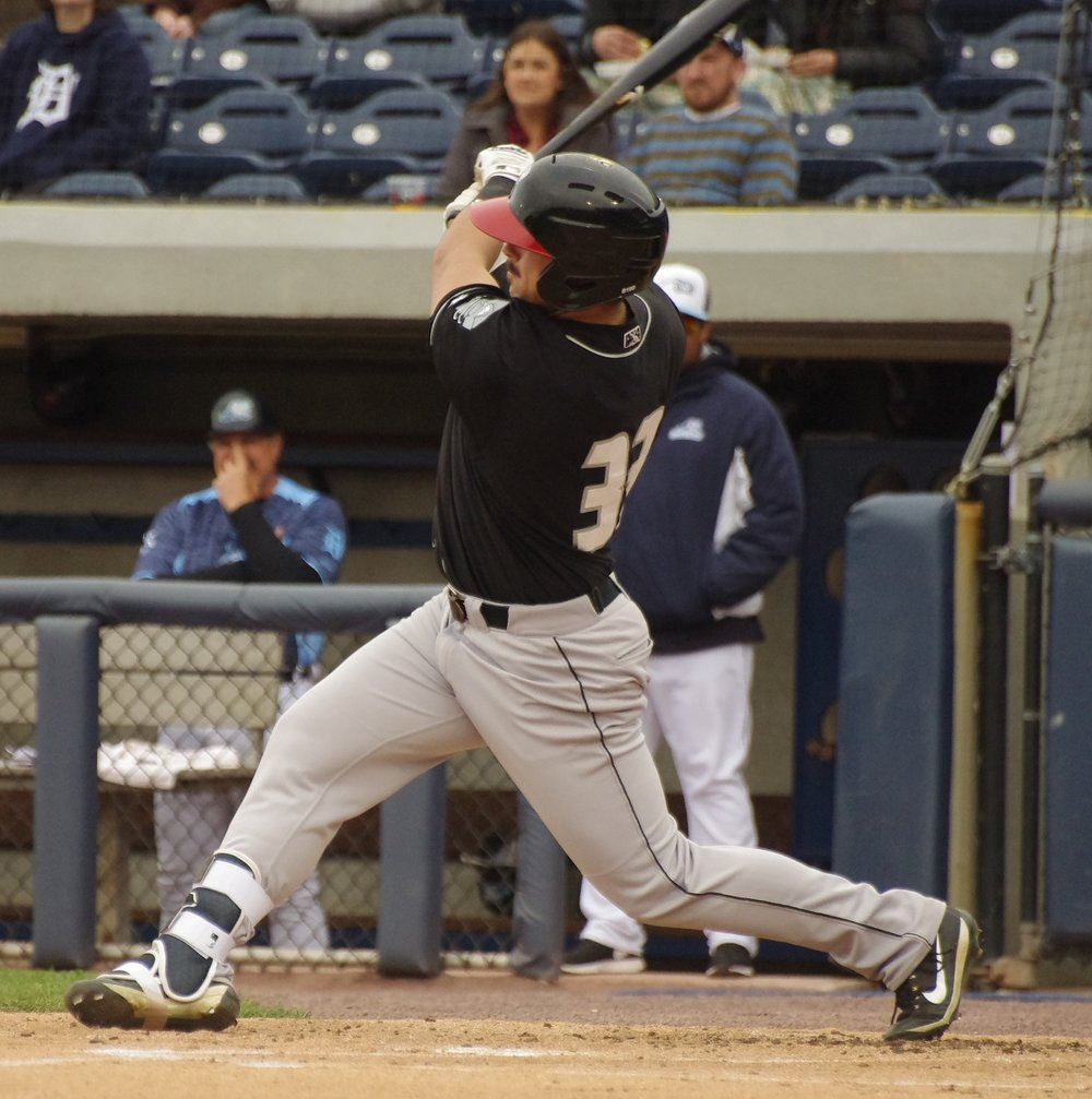 Brock Lundquist belted two home runs for the low-A Lansing Lugnuts on the weekend. Photo Credit: Jay Blue
