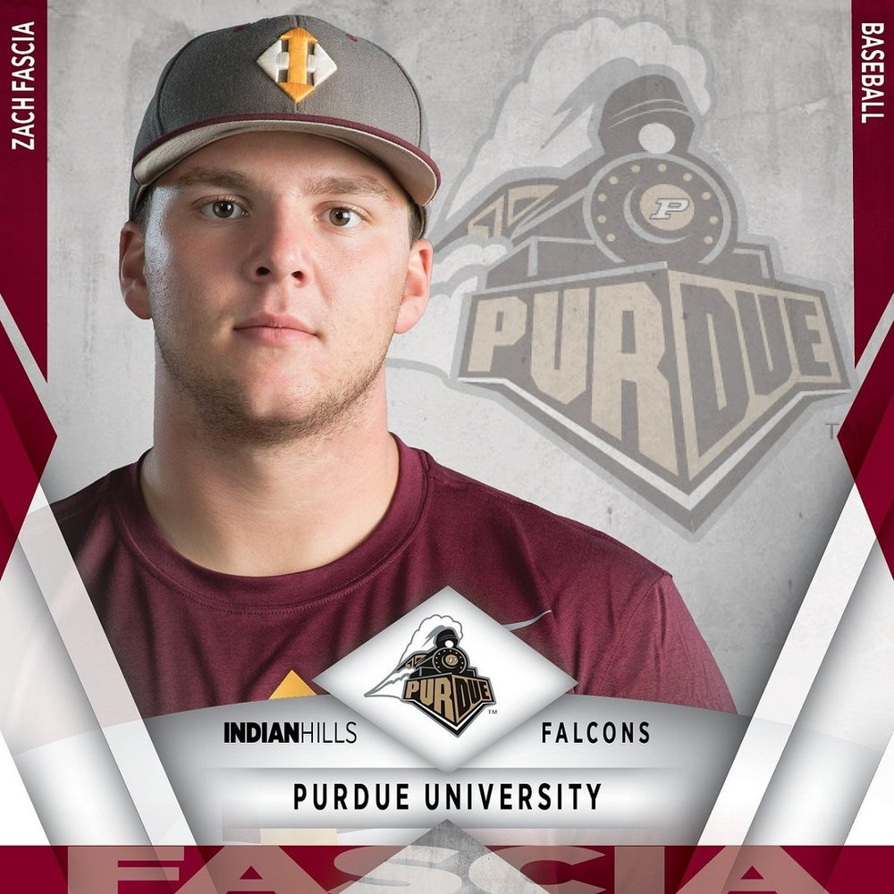 Former Brampton Royal Zach Fascia (Bramptonn, Ont.) remains a two-way threat for the Indian Hills Falcons. He shared the lead for saves by Canucks (three) and finished second among Canadian hitters, batting .684 (13-for-19) with four RBIs.