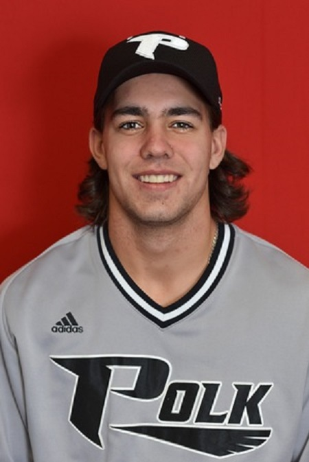 Former Langley Blaze Danny Berg (Saskatoon, Sask.) had 10 hits and drove in a run for the Polk State Eagles.