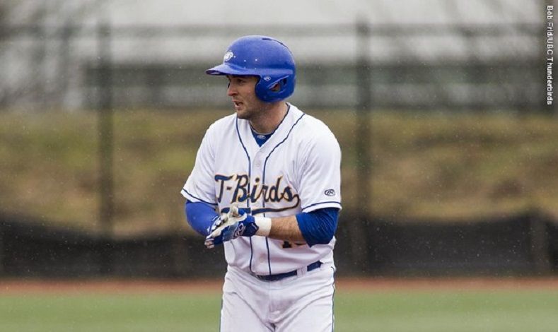 Former Langley Blaze Mitch Robinson (Surrey, BC) had five hits and drove in five for the UBC Thunderbirds.
