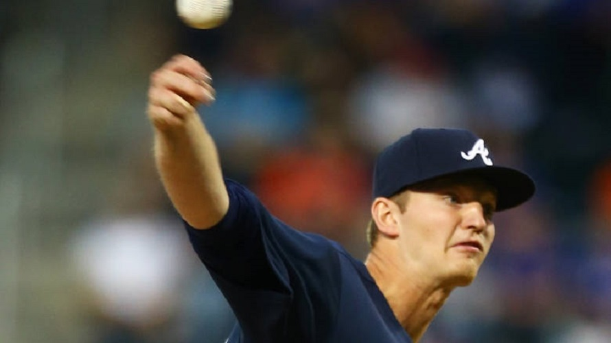 RHP Michael Soroka (Calgary, Alta.) worked six innings for the win against the New York Mets at Citi Field on Tuesday in his big league debut. Photo: Mike Stobe/Getty Images.