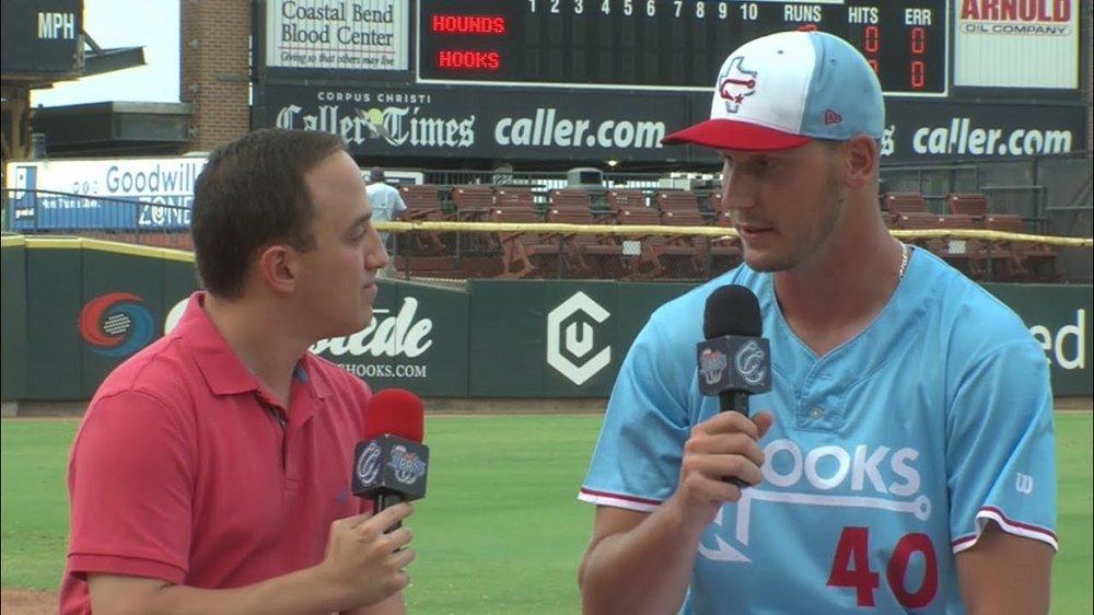 Houston Astros farmhand Brock Dykxhoorn (Goderich, Ont.), a former Ontario National, chats with Hooks TV's Sam Levitt.