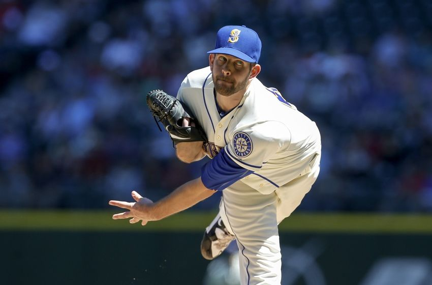 Seattle Mariners left-hander James Paxton (Ladner, B.C.) struck out 16 Oakland A's in seven innings on Wednesday to set a new record for most strikeouts by a Canadian pitcher in a major league game. Photo Credit: USA Today Sports