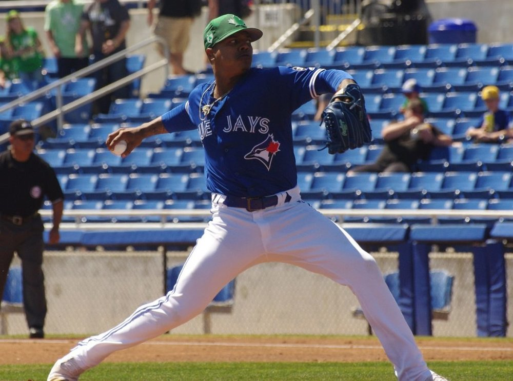 Toronto Blue Jays right-hander Marcus Stroman held the Minnesota Twins to two runs in seven innings on Wednesday. Photo Credit: Jay Blue