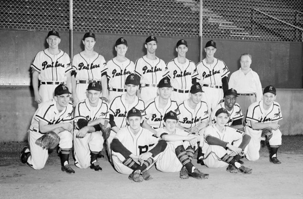 A photo of Kitchener's 1952 Intercounty Baseball League (IBL) champion squad. This was Kitchener's first IBL championship-winning team. Photo Credit: Kitchener Panthers