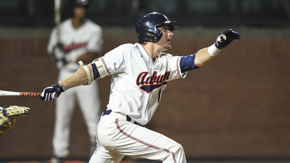Edouard JulienAuburn baseball vs Georgia State on Tuesday, Feb. 20, 2018, in Auburn, Ala.Photo by Wade Rackley/Auburn Athletics