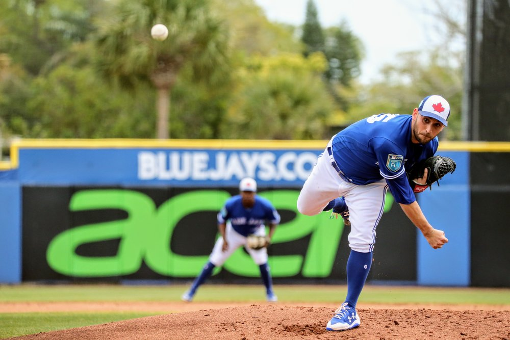 Right-hander Marco Estrada tossed six shutout innings on Sunday, but that was only the third time in seven starts that he has pitched at least six innings this season. Photo Credit: Amanda Fewer