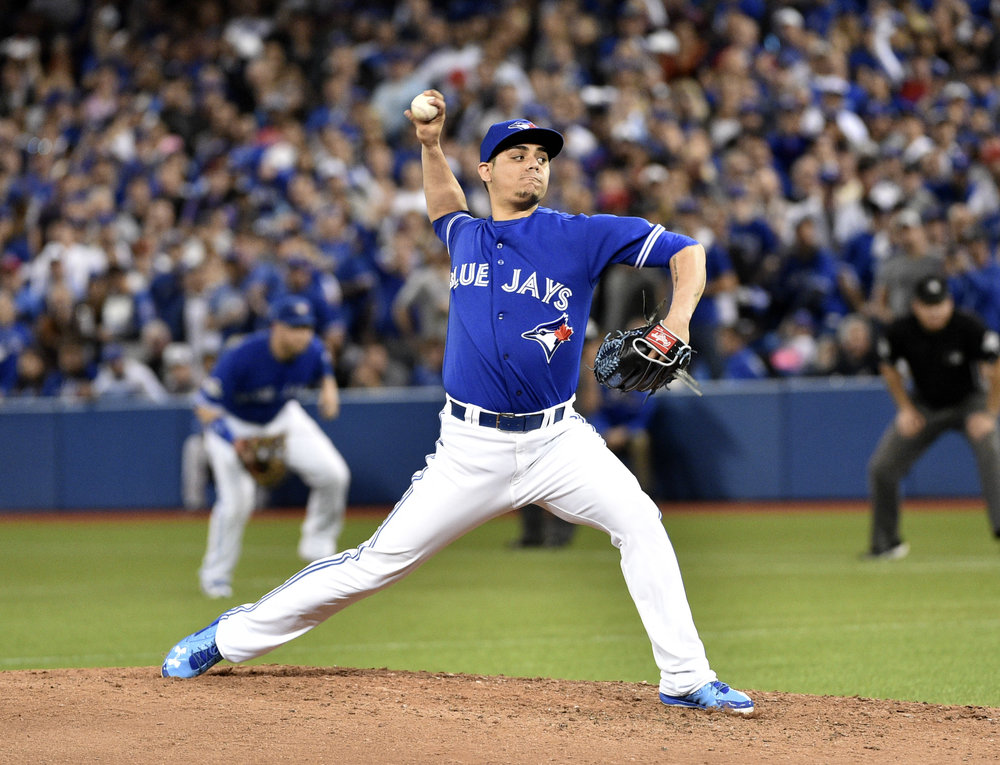 Toronto Blue Jays closer Roberto Osuna has been placed on administrative after being charged with assault.