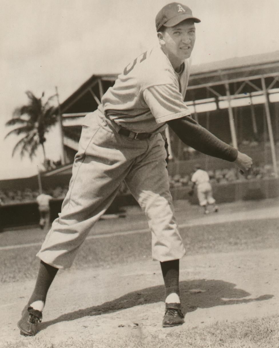 Ladner, B.C. native James Paxton threw a no-hitter on Tuesday to become the second Canadian to toss a no-hitter in the big leagues. Toronto native Dick Fowler (above) was the first. He completed a no-hitter for the Philadelphia A's on September 9, 1945. Photo Credit: Canadian Baseball Hall of Fame