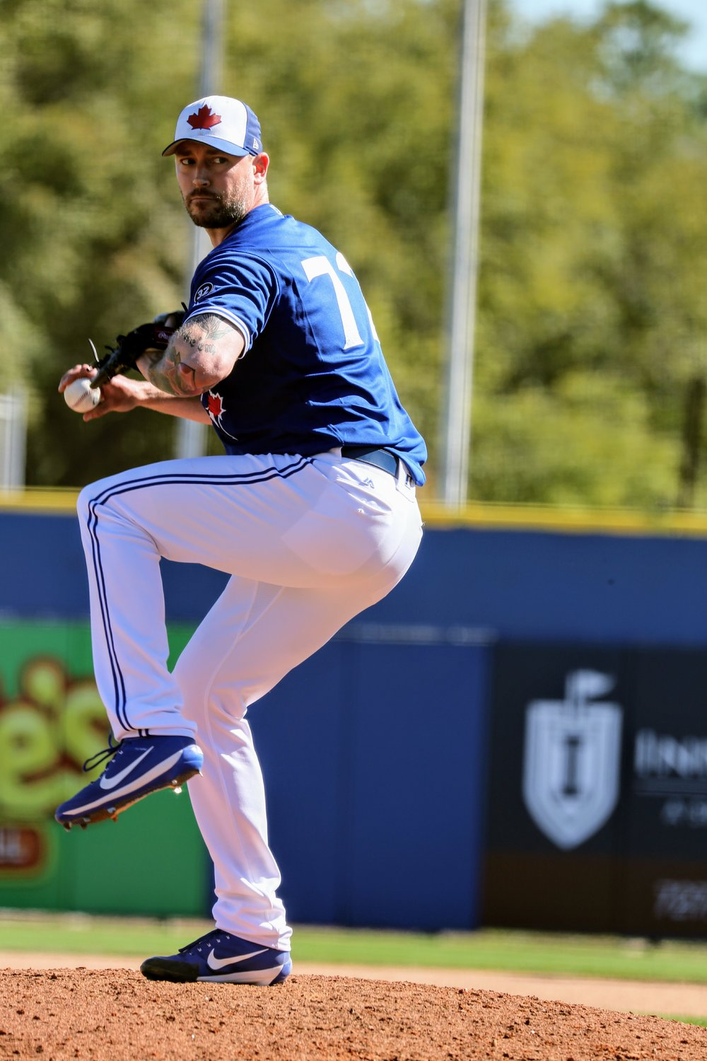With closer Roberto Osuna on leave and facing an assault charge, Canadian John Axford (Port Dover, Ont.) is one of the relievers the Toronto Blue Jays could turn to in save situations. Photo Credit: Amanda Fewer