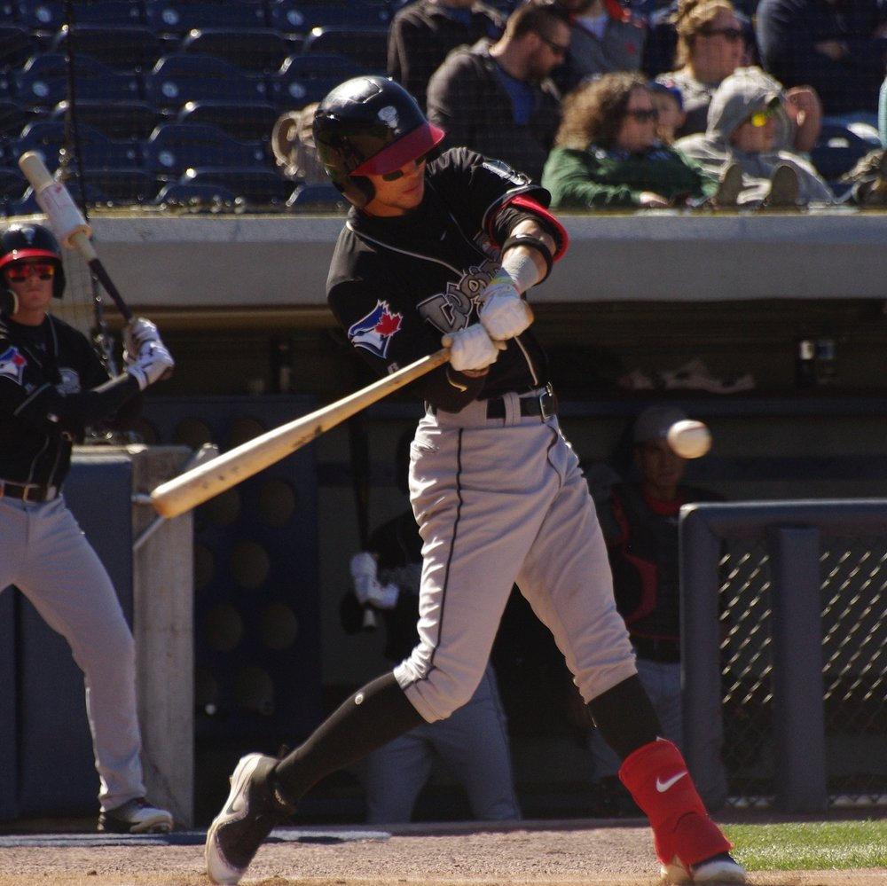 Kevin Vicuna had three hits and two walks for low-A Lansing Lugnuts on Tuesday. Photo Credit: Jay Blue