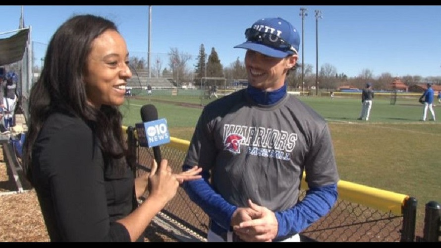 OF Austen Swift (Etobicoke, Ont.) of William Jessup is interviewed by ABC10's Lina Washington.