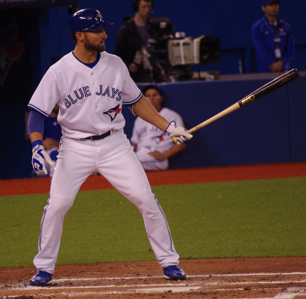 Kevin Pillar had three hits and reclaimed the major league lead in doubles during the Toronto Blue Jays' three-game series against the Seattle Mariners this week. Photo Credit: Jay Blue