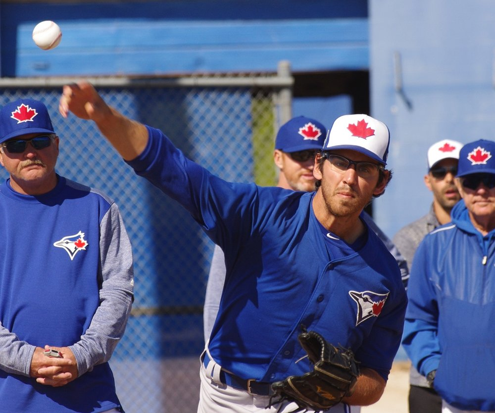Former Ontario Blue Jays right-hander Jordan Romano (Markham, Ont.) is 6-0 to begin the season with the double-A New Hampshire Fisher Cats. Photo Credit: Jay Blue