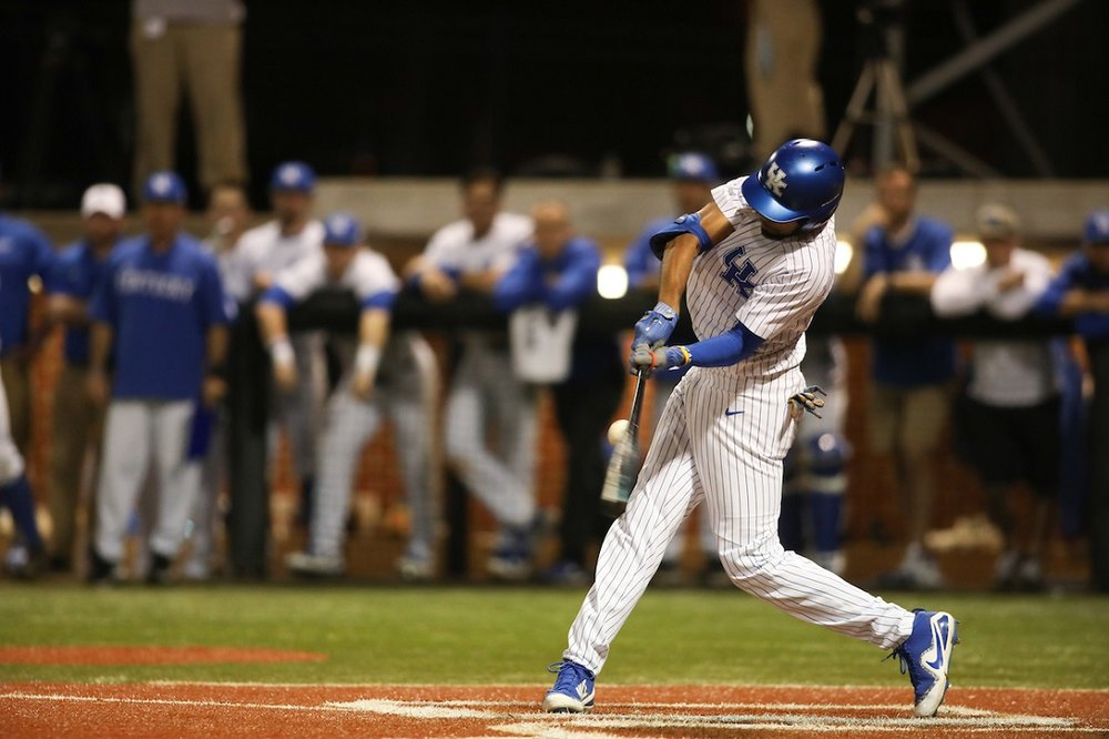 Tristan Pompey (Mississauga, Ont.) had four hits and hit a grand slam against Murray State.