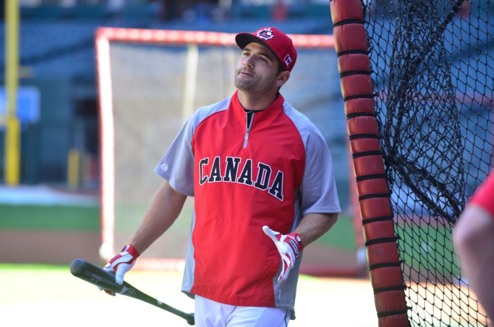 1B Joey Votto (Etobicocke, Ont.) during a World Baseball Classic.