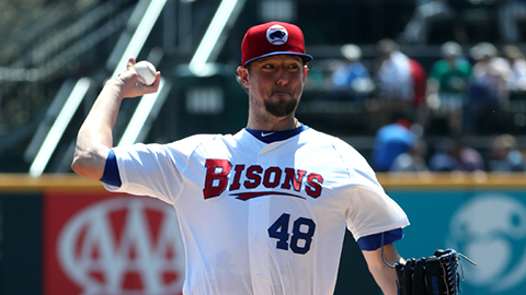 The Toronto Blue Jays have recalled right-hander Deck McGuire from triple-A Buffalo. Photo Credit: Buffalo Bisons