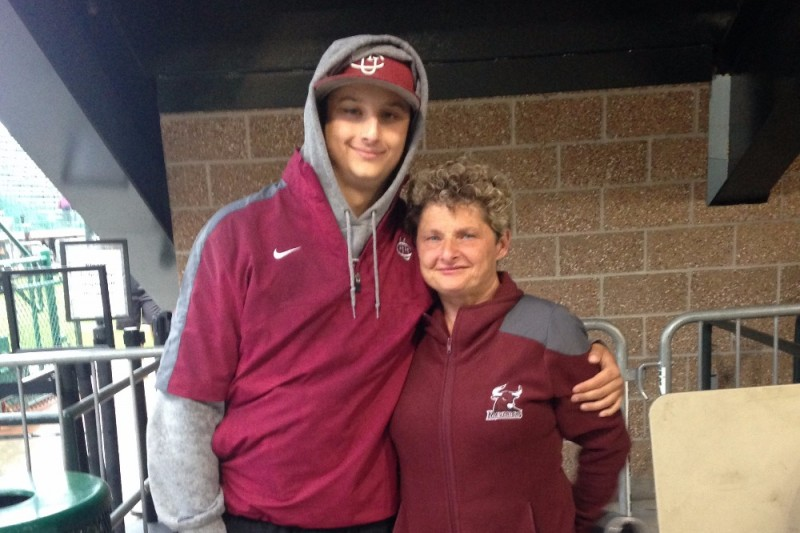 North Delta Blue Jays alum Jonathan Cote (New Westminster, B.C.), pictured here with his mother Candice, has been diagnosed with brain cancer for a second time. Information is provided below on how you can help him and his family.