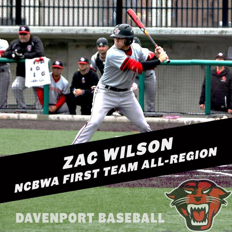Former Ontario Royal Zac Wilson (New Lowell, Ont.) set the Davenport Panthers career hit record and earned Great Lakes Conference Player of the Year hitting .379 with 10 and 46 RBIs.