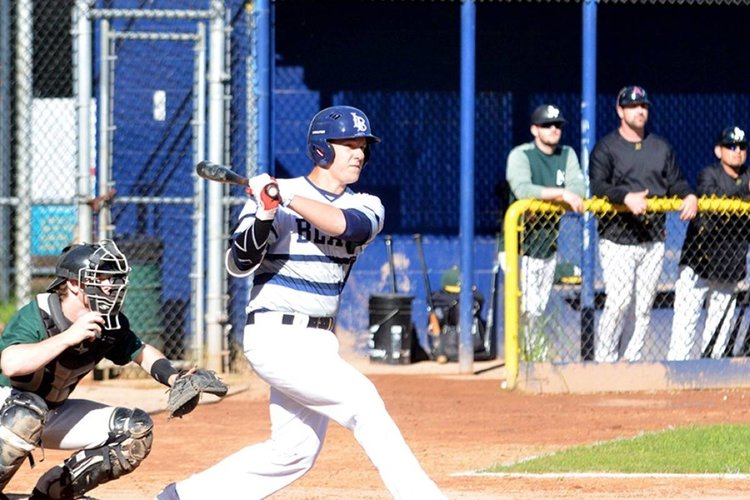Langley Blaze Michael Stovman (Maple Ridge, BC) was double duty for the Indian River State Pioneers going 4-0 on the mound and driving in 17 runs.