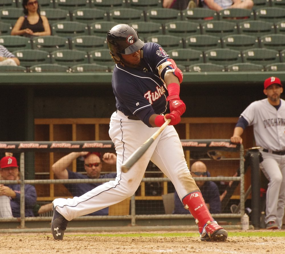 Vladimir Guerrero is batting over .400 with the double-A New Hampshire Fisher Cats to begin the season. Photo Credit: Jay Blue
