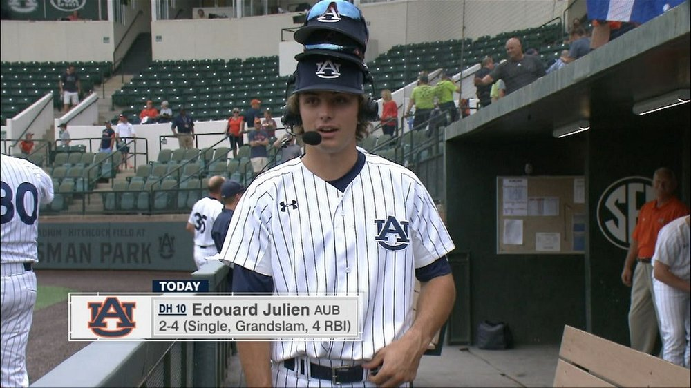 Team Elite grad Edouard Julien (Quebec City, Que.) led Canucks with five RBIs for the Auburn Tigers.