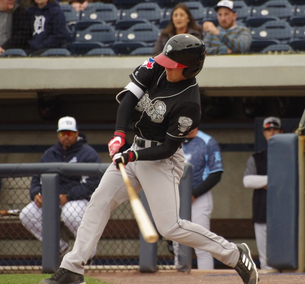 Cullen Large belted his fourth home run of the year for the low-A Lansing Lugnuts on Sunday. Photo Credit: Jay Blue