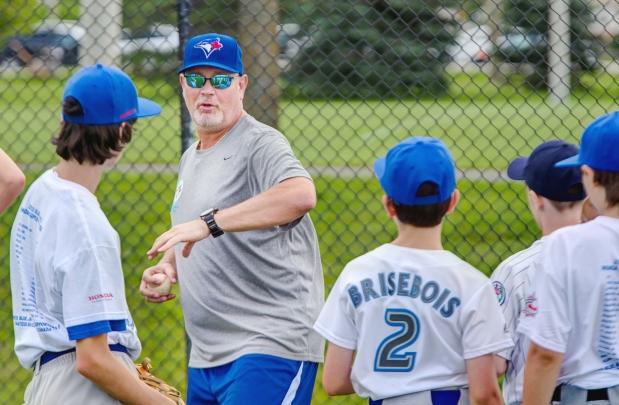Duane Ward works a Blue Jays academy camp in Ottawa. Photo: Chris Mikula.