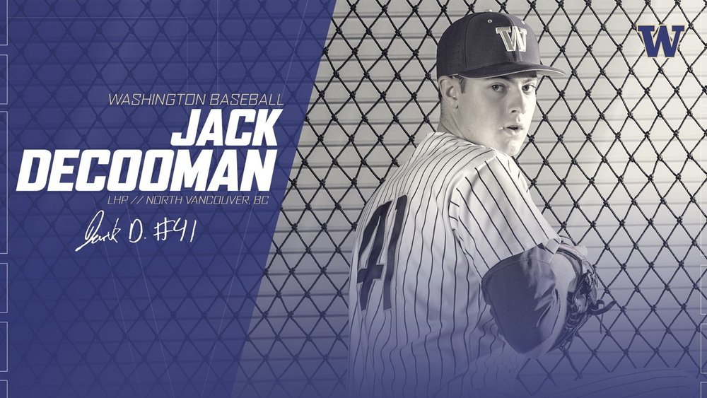 North Shore Twins Jack DeCooman (North Vancouver, BC) of the Washington Huskies.