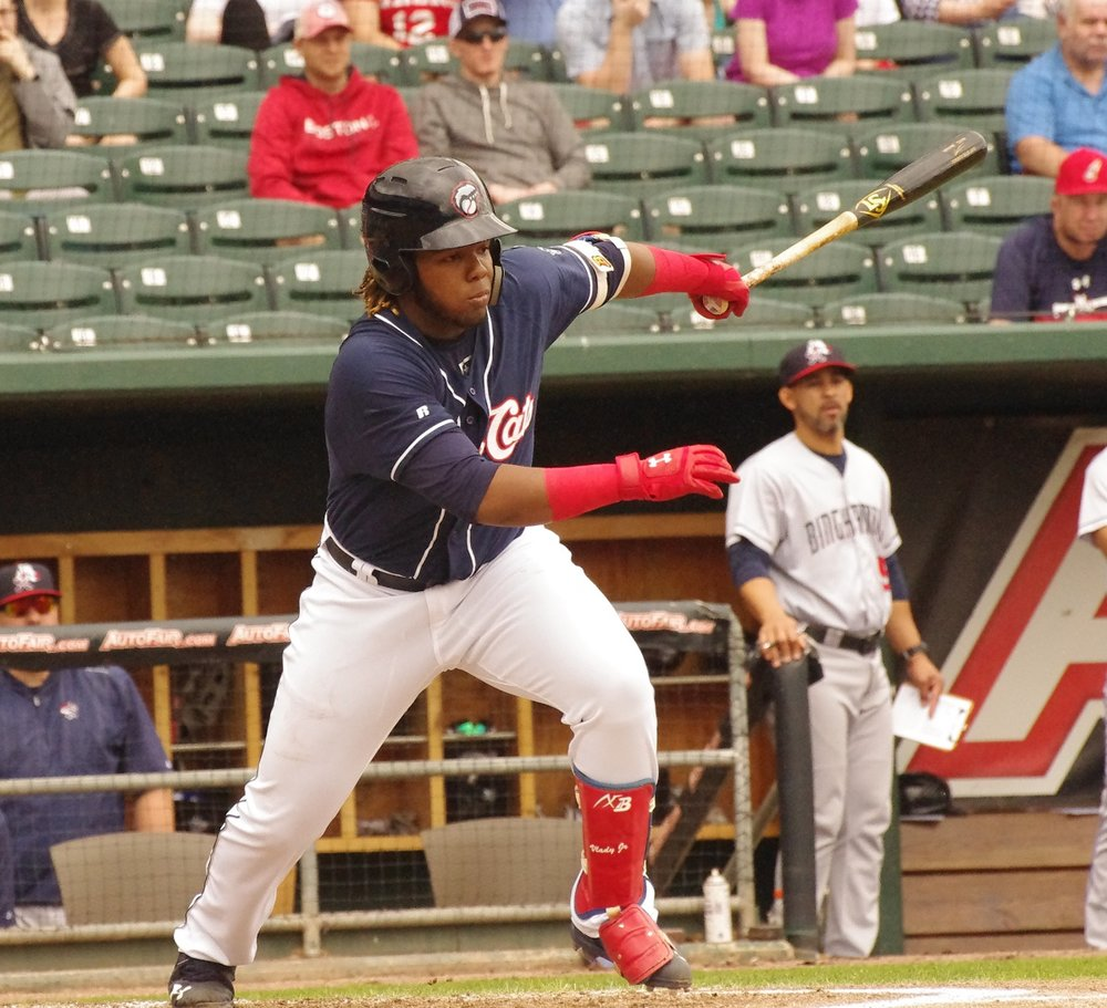 Vladimir Guerrero Jr. (Montreal, Que.) has been named Eastern League Player of the Month for May. Photo Credit: Jay Blue