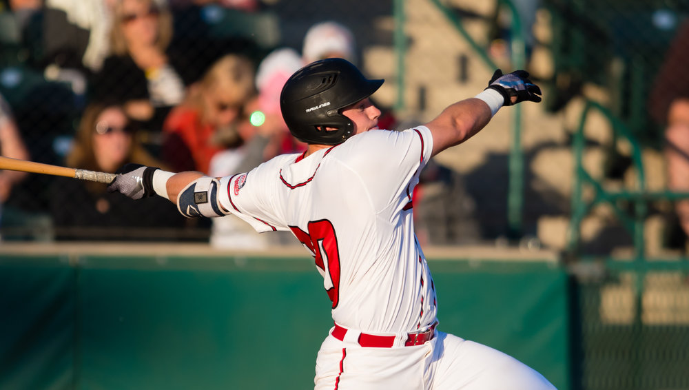 Cole MacLaren picked up a hit for the Okotoks Dawgs in the club's 6-1 loss on Tuesday. Photo Credit: Okotoks Dawgs (FILE PHOTO)