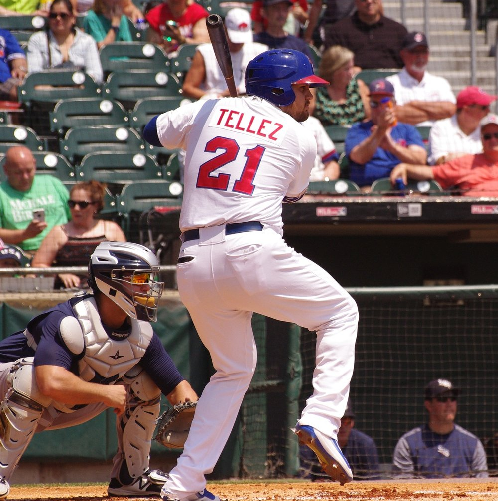 Rowdy Tellez went 2-for-3 with a double and a home run for the triple-A Buffalo Bisons on Wednesday. Photo Credit: Jay Blue