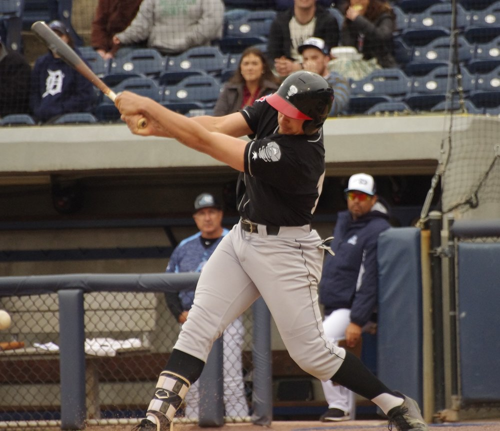 Ryan Noda had three hits - including two solo home runs - for the low-A Lansing Lugnuts on Thursday. Photo Credit: Jay Blue