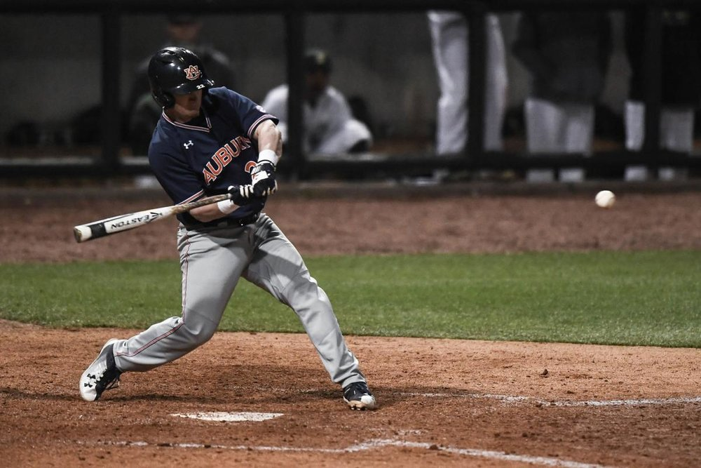 The Toronto Blue Jays selected Auburn catcher Brett Wright in the 26th round of the 2018 MLB Draft. Photo Credit: Dakota Sumpter, Auburn Athletics