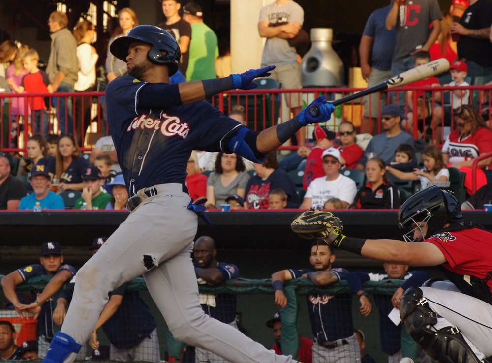 Lourdes Gurriel had three hits for the triple-A Buffalo Bisons on Friday. Photo Credit: Jay Blue