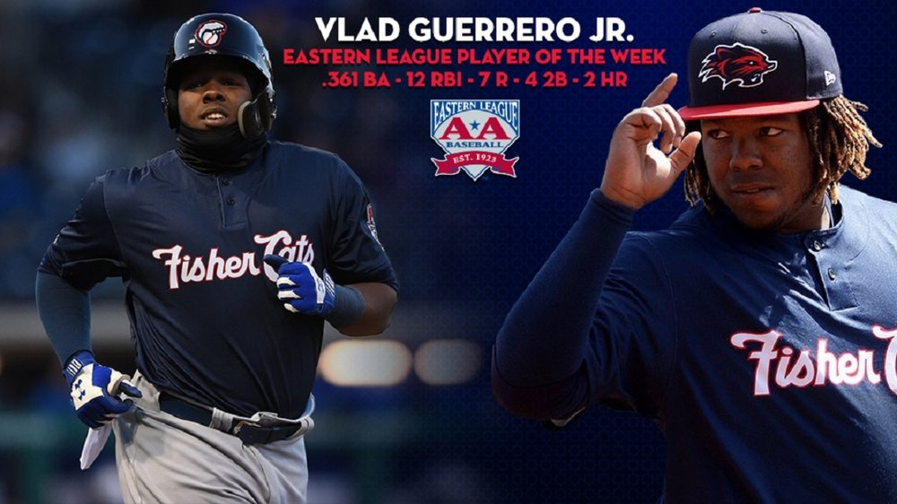 Usually the most important move of the week is a promotion -- not this week. Vladimir Guerrero (Montreal, Que.) was placed on the disabled list at double-A New Hampshire with a strain to the left patella tendon. He could miss four weeks.