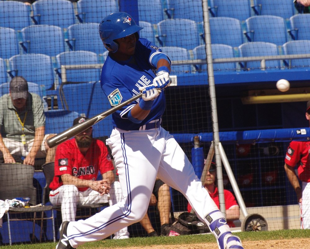 Mc Gregory Contreras clubbed two home runs for the class-A Short Season Vancouver Canadians on Sunday. Photo Credit: Jay Blue