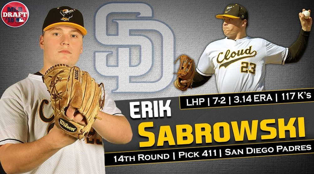 Prospects Baseball Academy grad Erik Sabrowski (Edmonton, Alta.) led all Canadians with 117 strikeouts for Cloud County.